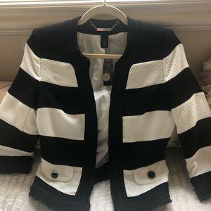 Tweed black and white jacket